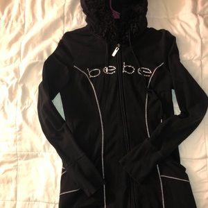 Black Bebe long hoodie